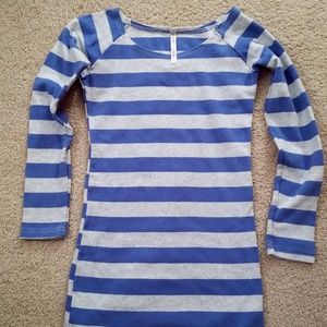 Tops - Blue and gray striped tunic